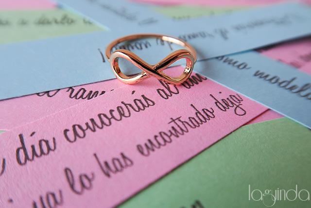detalle regalo anillo infinito damas de honor despedida soltera