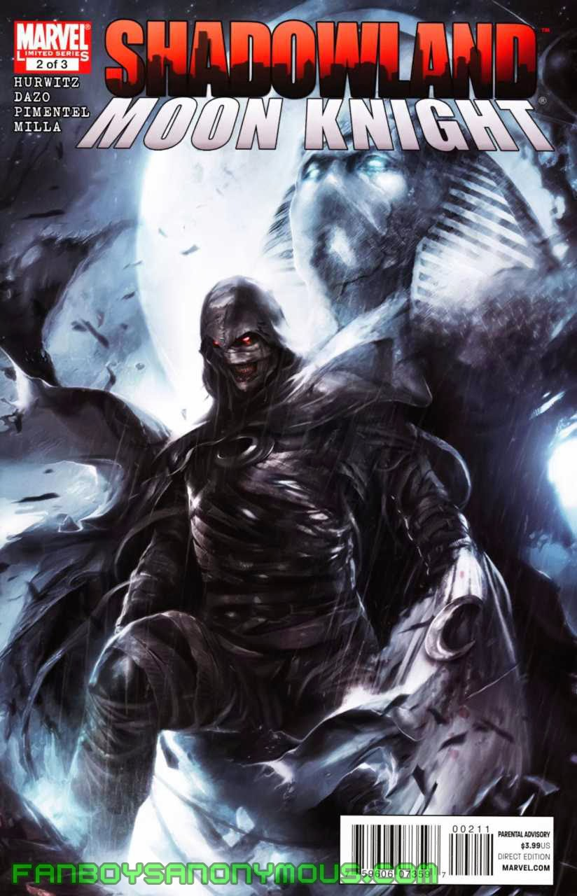 Catch up on Randall Spector's history in Essential Moon Knight Volume 1