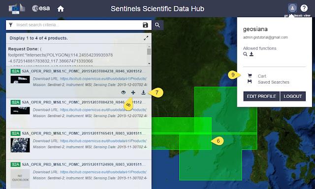 Download Data Sentinel dari ESA