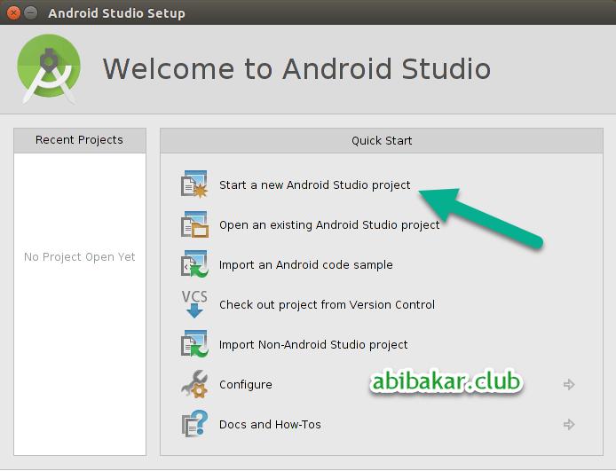 Membuat Project Baru Di Android Studio