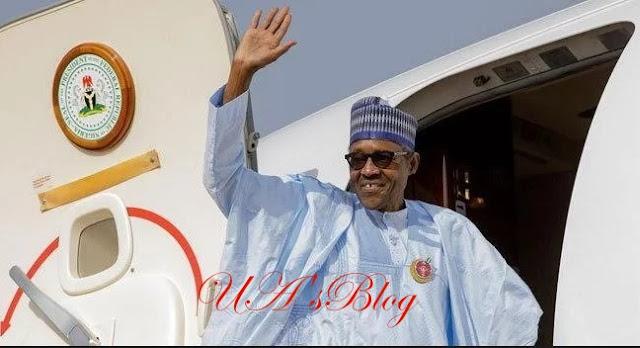 President Buhari leaves Nigeria