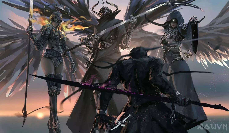 62 AowVN.org m - [ Hình Nền ] Anime Cực Đẹp by Wlop | Wallpaper Premium / Update