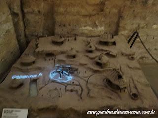 Maquete colina Palatino idade arcaica