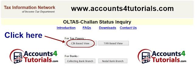 TDS Challan deposited status