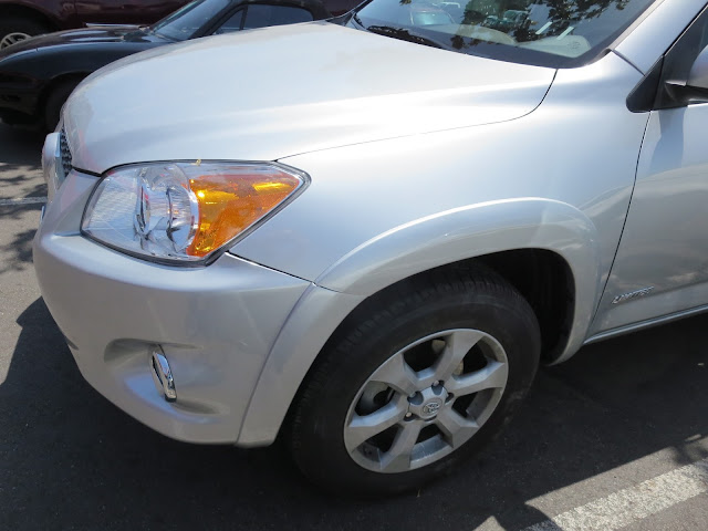 Fender & bumper on 2012 Rav4 after collision repairs at Almost Everything Auto Body