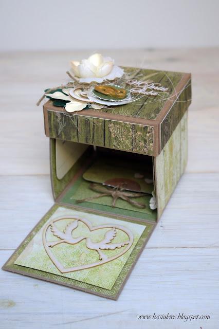 ślubny exploding box – zielony, leśny i eko