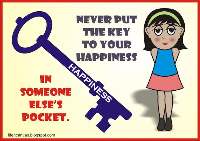 key to happiness cartoon