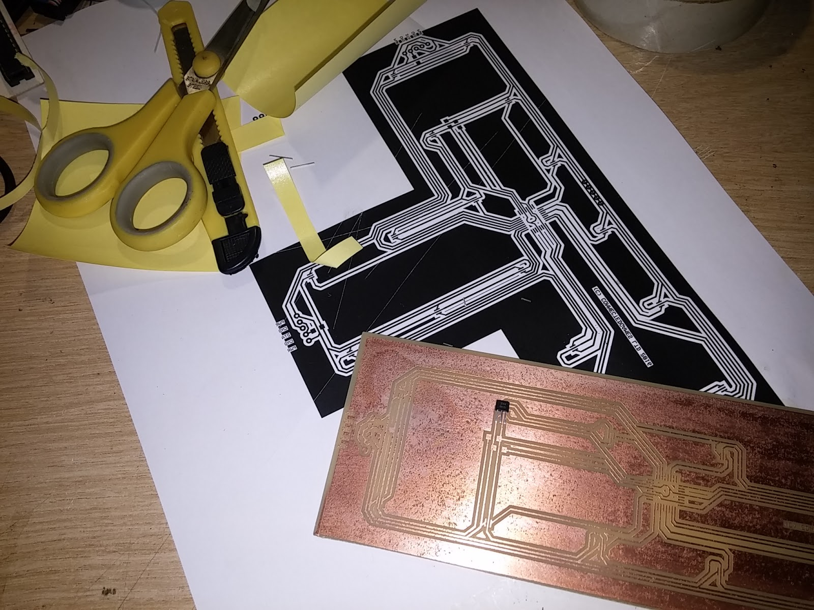 Nerd Club June 2016 20 Pc Copper Clad Laminate Circuit Boards Fr2 Pcb Single Side Because Of The Large Areas Black Were Heavily Pitted In Places Not Much A Problem But That I Was Using 03mm Thick Traces For