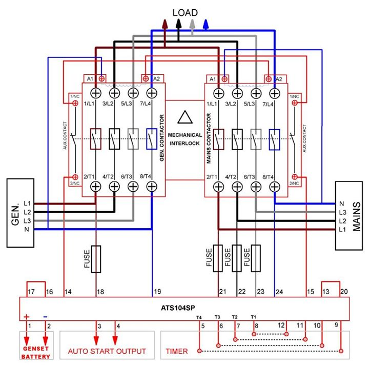 3 Phase Ats Wiring Diagram - Wiring Diagrams Schema