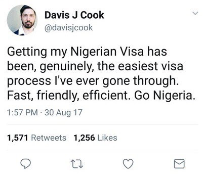 wp 1504188183784 - ENTERTAINMENT: See What A South African Citizen Said After Getting A Nigerian Visa