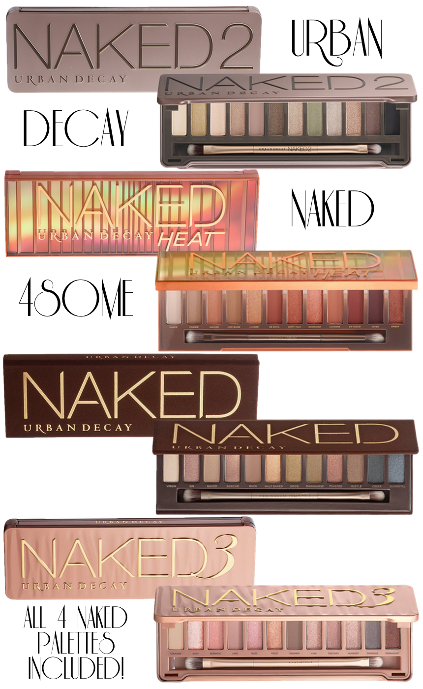 URBAN DECAY Naked 4some Eyeshadow Palettes (set of 4)