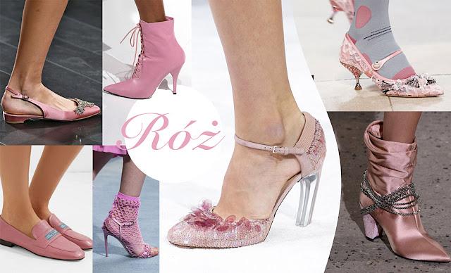 Modne buty damskie lato 2018 różowe
