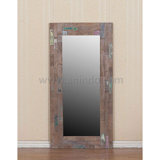 solid wooden boat mirror