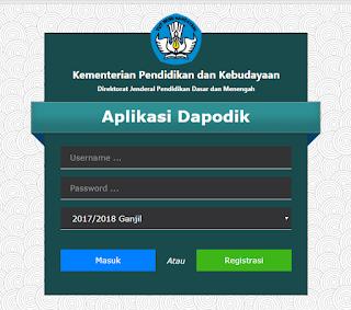 Tahapan Pengisian Menu Jadwal Pelajaran di Aplikasi Dapodik Versi 2018