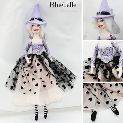 Bluebelle Amethyst Deamonne Witch Art Doll