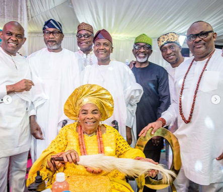 Ooni of Ife, Billionaires Dangote, Otedola Attend Tony Elumelu's Mother's 90th Birthday Party