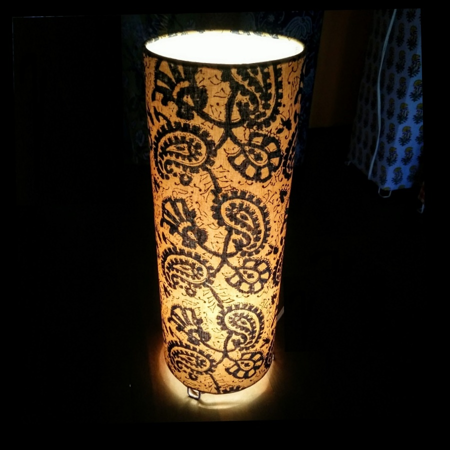 Blue paisley table lamp online home decor shopping buy blue paisley table lamp geotapseo Image collections
