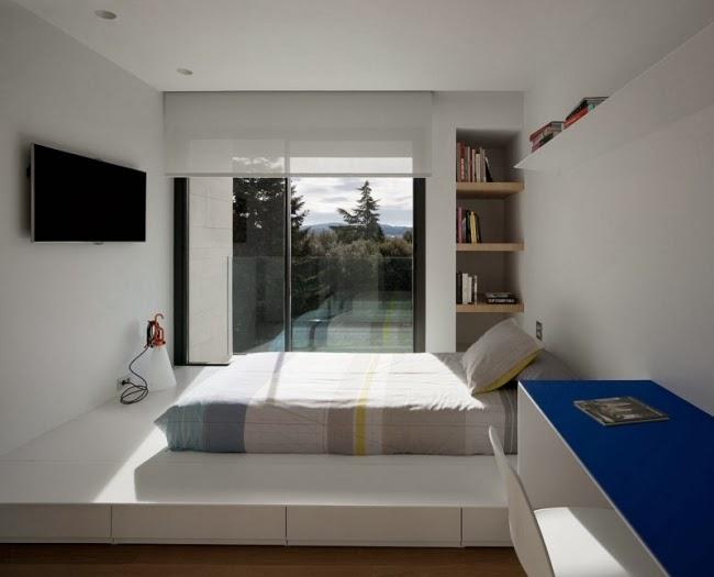 Dormitorio moderno pequeño