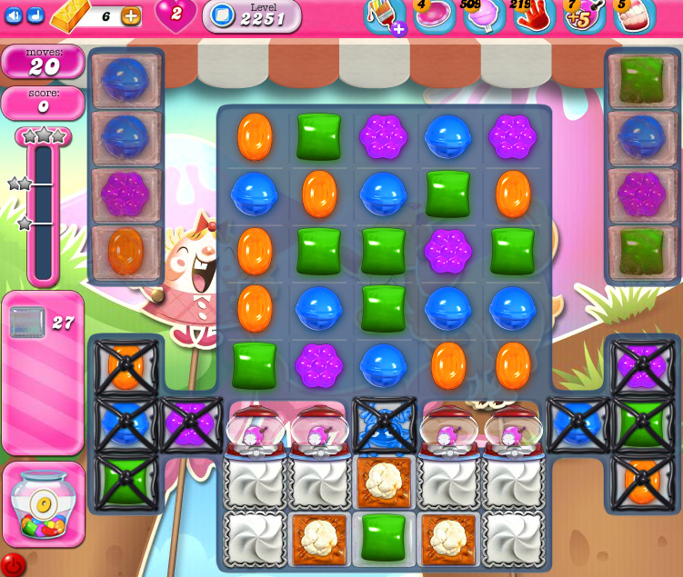 Candy Crush Saga level 2251