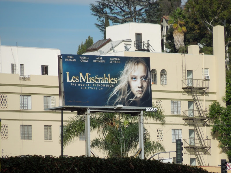 Les Miserables movie billboard
