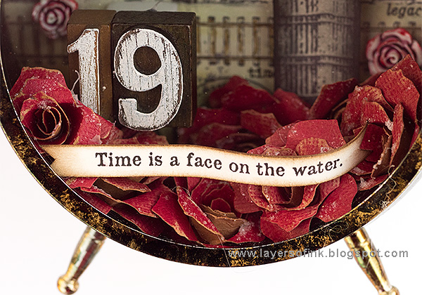 Layers of ink - Dark Tower Assemblage Clock Tutorial by Anna-Karin, with Tim Holtz idea-ology