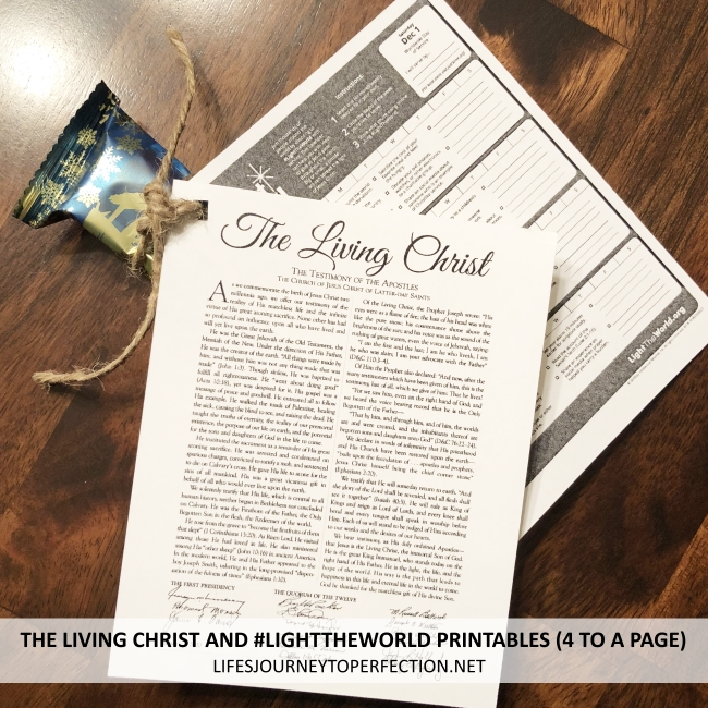 Life\u0027s Journey To Perfection Light the World and The Living Christ