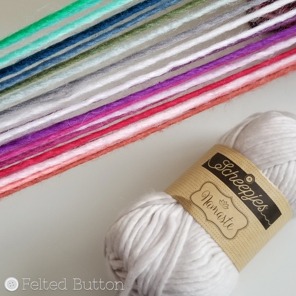 Scheepjes Namaste Yarn: Crochet pattern coming soon by Felted Button
