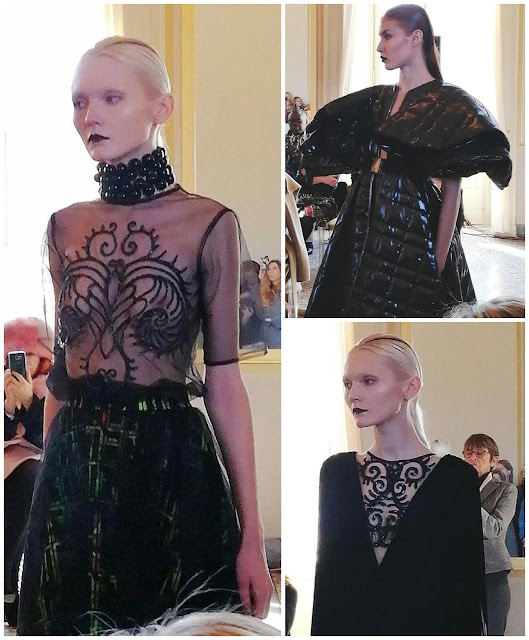 An alien angel at the fashion exhibit yesteryear Bartolotta  An alien angel at the fashion exhibit yesteryear Bartolotta & Martorana for the fall/winter 2019-20 ready-to-wear collection