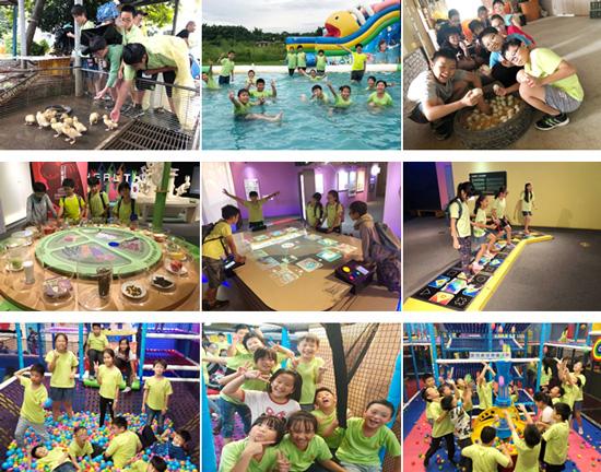 乖寶貝兒童課後照顧服務中心夏令營從台南玩到高雄,鴨莊、科工館、爬爬客都能看到孩子身影。