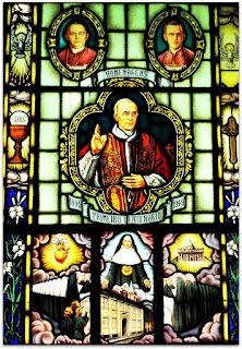 Vitral na Sala do Centenário do Santuário São Rafael, Porto Alegre