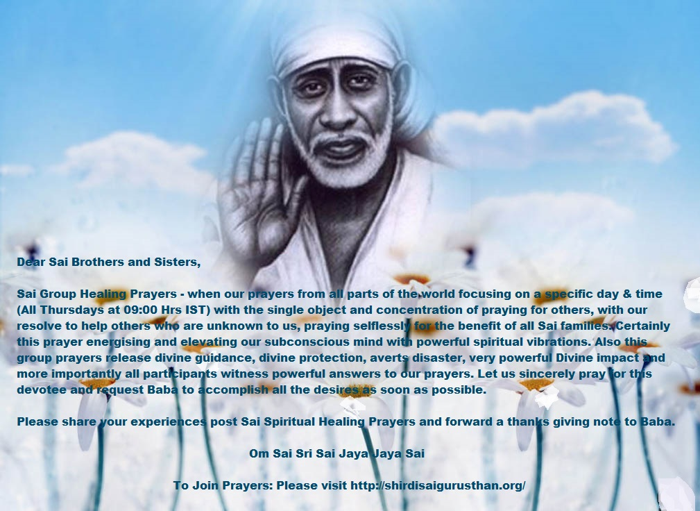 Shirdi Sai Spiritual Group Prayers