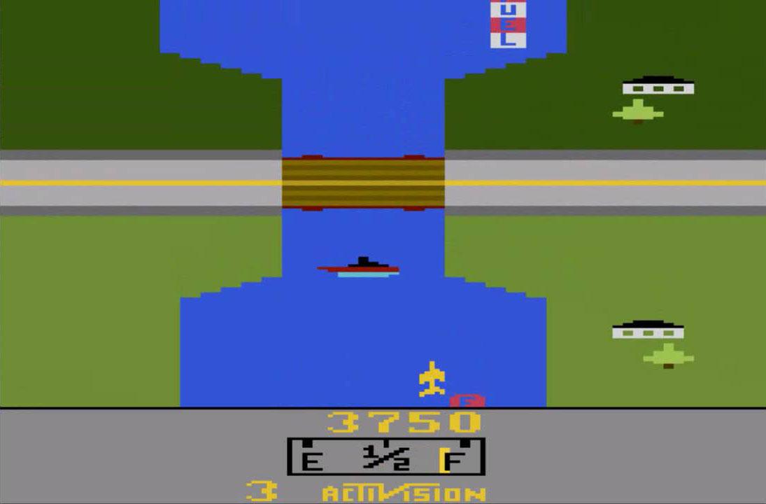 لعبة الطائرات أتاري Air Fox أو River Raid - منصة تجربة