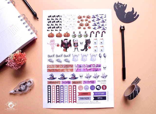 halloween stickers freebie