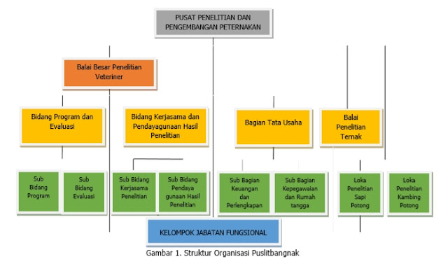 struktur organisasi Puslitbangnak