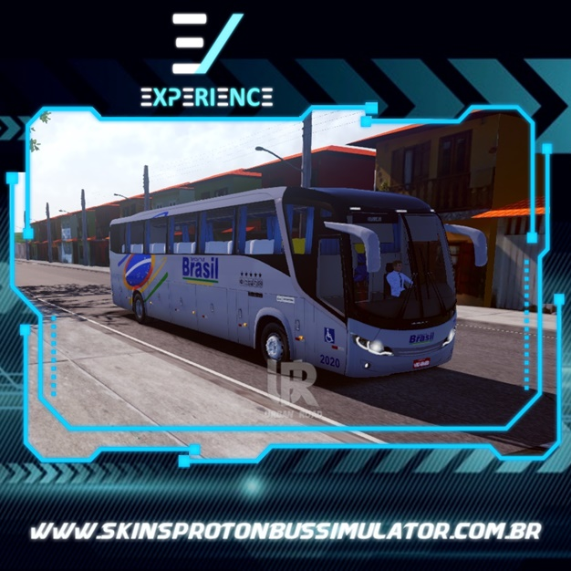 Skins Proton Bus Simulator Road - Comil Invictus MB O-500 RS Viação Transbrasil