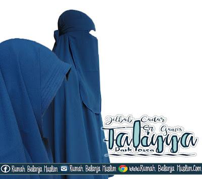 Model Jilbab Cadar Gamis Wollycrepe  Fatiyya Dark Tosca