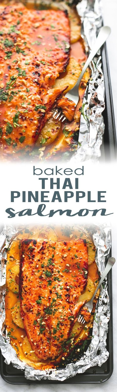 BAKED THAI PINEAPPLE SALMON IN FOIL