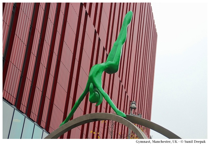 Sculptures of gymnastics and yoga - Manchester, UK - Images by Sunil Deepak