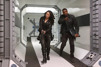 Melissa O'Neil and Roger Cross in Dark Matter Season 3 (24)