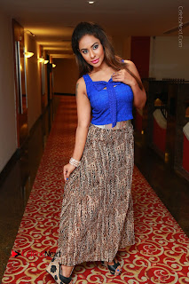Telugu Actress Srilekha Reddy Latest HD Pos in Sleeveless Blue Top at Muse Art Gallery  0099.JPG