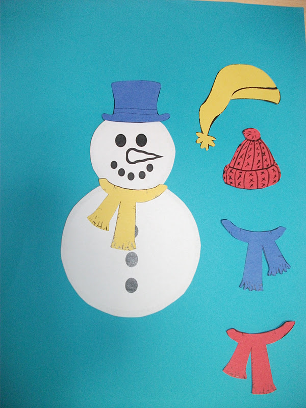 Snowman With Hat And Scarf Craft Preschool Education For Kids