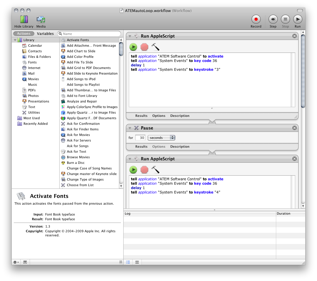 thoughts and stuff: automating an atem with automator