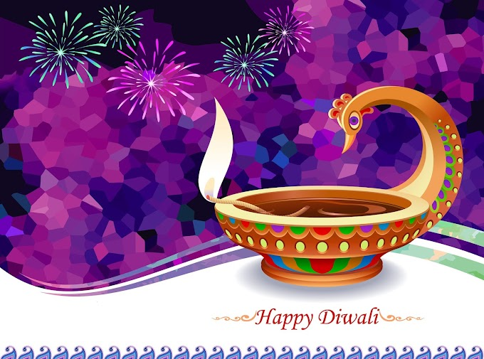Happy diwali holiday design with firework free vector