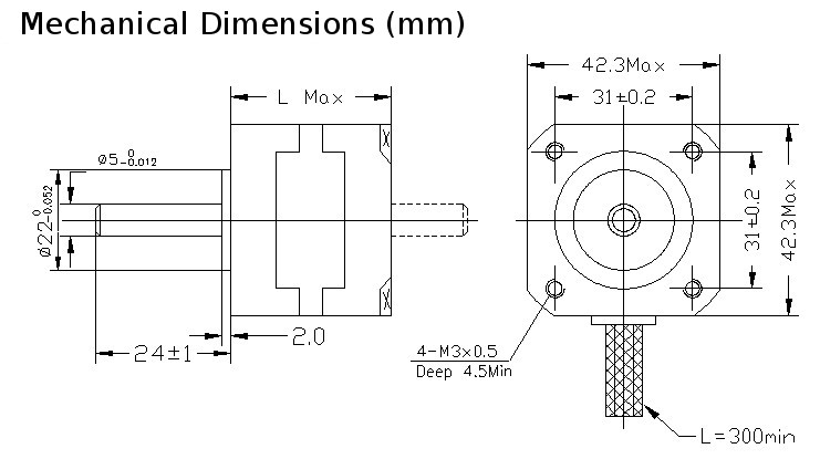 Good quality stepper motors for cnc project sale for Nema 17 motor specs