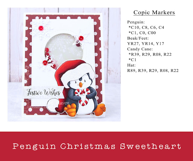 Heather's Hobbie Haven - Penguin Christmas Sweetheart Shaker Card Kit