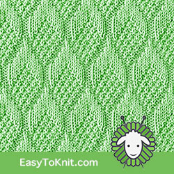 Knit Purl 11: Pine Cone | Easy to knit #knittingstitches #knittingpatterns