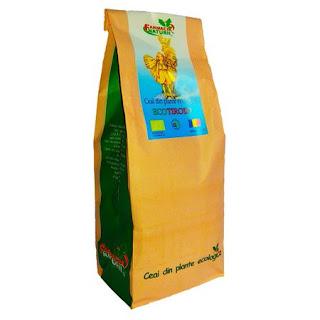 Asa arata ceaiul Ecotiroid pt tiroida pachet 150 gr