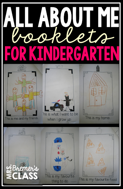 All About Me booklets for Kindergarten and First Grade