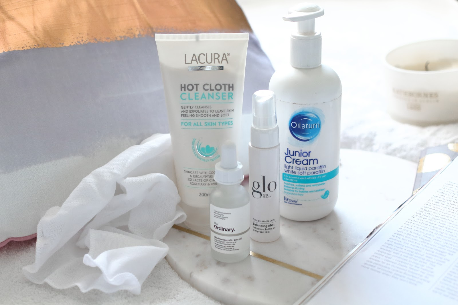 lazy, affordable, skincare, routine, girl, blogger, skin, beauty, acne, combination, type, cheap, liz earle, cleanser, the ordinary, aldi