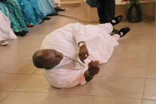 Senator Dino Melaye Rolls on the Floor in a Thanksgiving Service